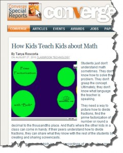 Mathtrain Students in Convergemag.com