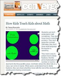 Mathtrain Students in Convergemag.com